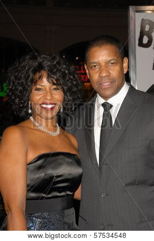 Denzel Washington and wife Pauletta at 'The Book Of Eli' Premiere, Chinese Theater, Hollywood, CA. 01-11-10