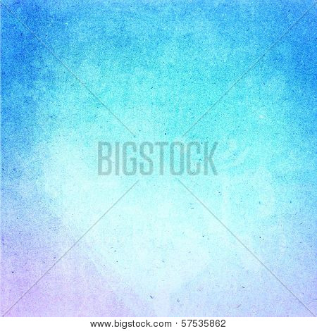 Water Color On Recycle Blue Paper Texture Background. Abstract Designed  Detailed Grunge Paper Textu