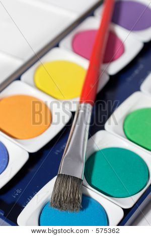 Paintbox With Brush