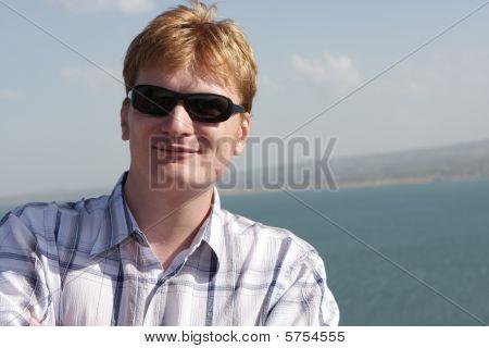 Tourist Poses Outdoor