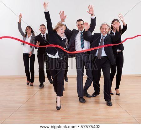 Jubilant Business People Celebrating