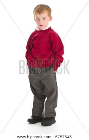 School Boy In Uniform