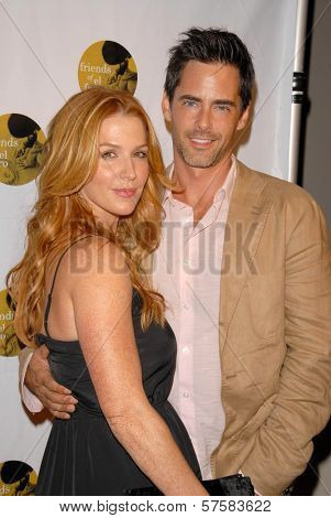Poppy Montgomery and Adam Kaufman at the 6th Annual Friends of El Faro Benefit Gala. Boulevard 3, Hollywood, CA. 09-24-09