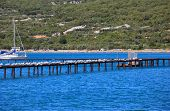 View of punat coast Krk island in Dalmatia - Croatia poster