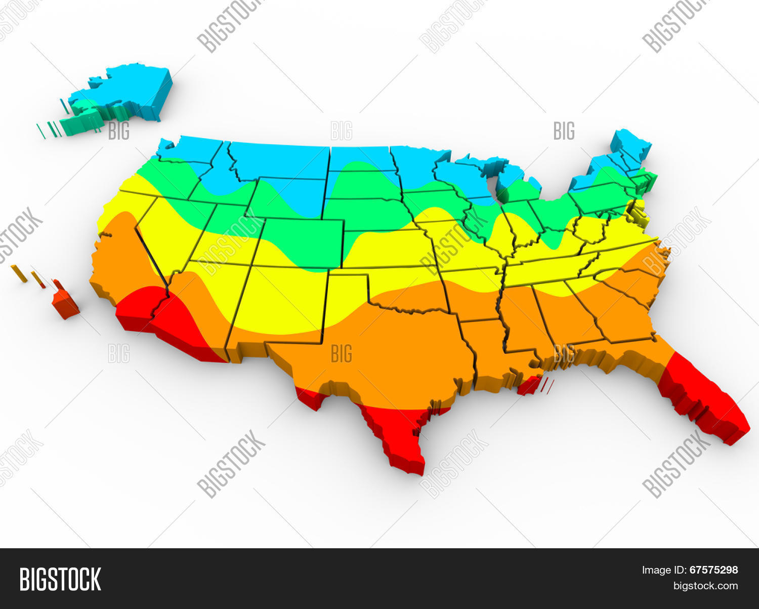Usa Map With Regions.Map United States Image Photo Free Trial Bigstock