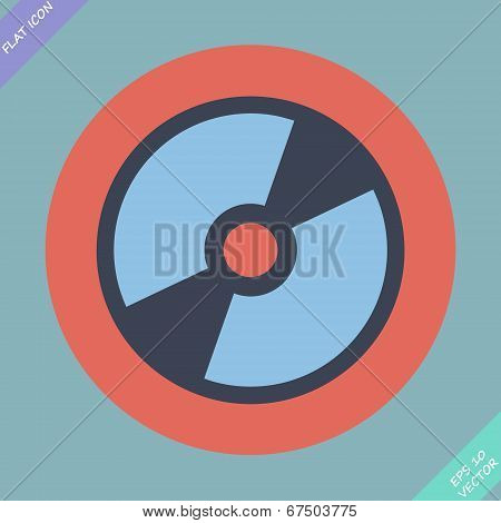 CD or DVD icon - vector illustration.