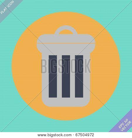 Trash can icon - vector illustration.