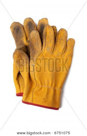 Used Leather Workgloves