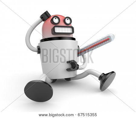 Sick robot poster