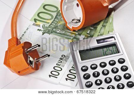 Plug, Calculator And Money