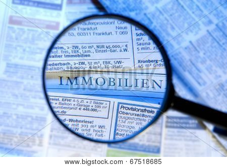 Magnifier And Real Estate Ads