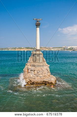 Monument to the Scuttled Warships in Sevastopol.
