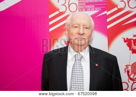 MOSCOW - JUNE, 28: Russian director Mark Zakharov. 36st Moscow International Film Festival. Closing Ceremony at Rossiya Cinema . June 28, 2014 in Moscow, Russia