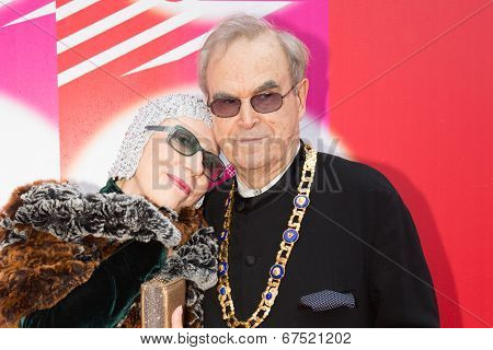 MOSCOW - JUNE, 28: Russian actress N. Churikova, Gleb Panfilov. 36st Moscow International Film Festival. Closing Ceremony at Rossiya Cinema . June 28, 2014 in Moscow, Russia