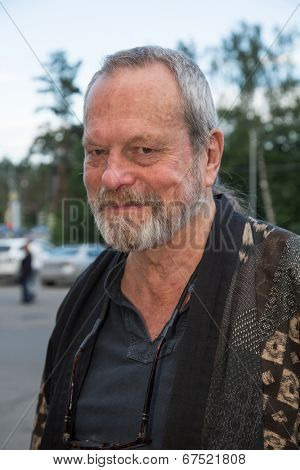 MOSCOW - JUNE, 14: American director Terry Gilliam. Movie Premiere The Zero Theorem at the Barvikha Village. June 14, 2014 in Moscow, Russia