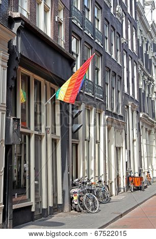 Gay Community In Red Light Disctrict, Amsterdam - Netherlands
