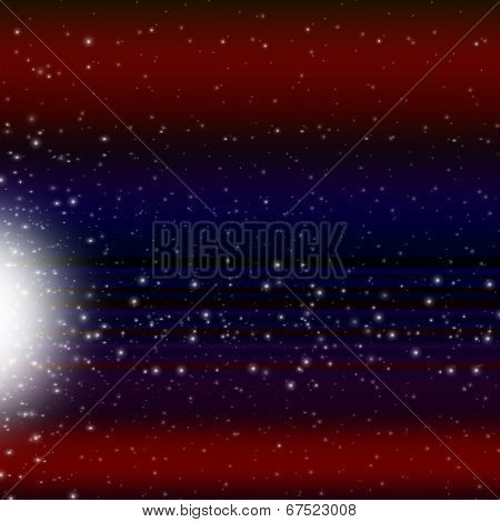 Shooting Star Background Shows Celestial Body And Meteorite.