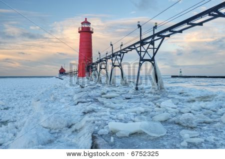 Grand Haven Lighthouse Winter
