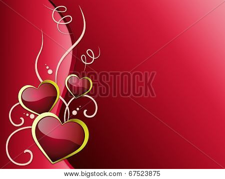 Hearts Background Means Romanticism  Passion And Love .