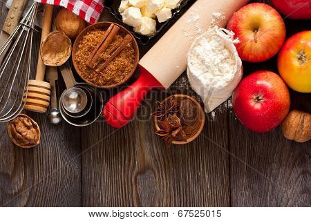 Apple Pie Ingredients.