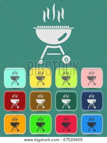 barbecue grill icon Illustration