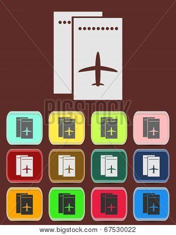 Airfare icon Illustration