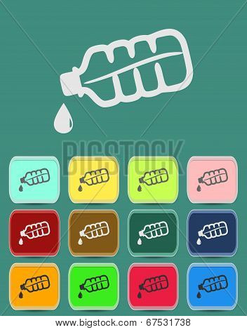 Drop bottle icon Illustration