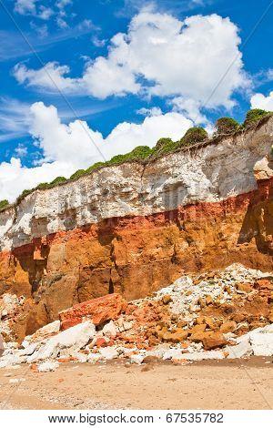 Layered Cliffs At Hunstanton Vertical Image