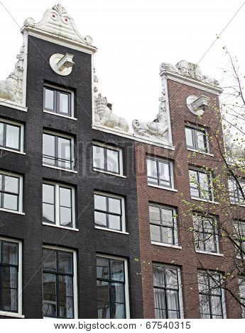 Typical Architecture In Amsterdam, Netherlands