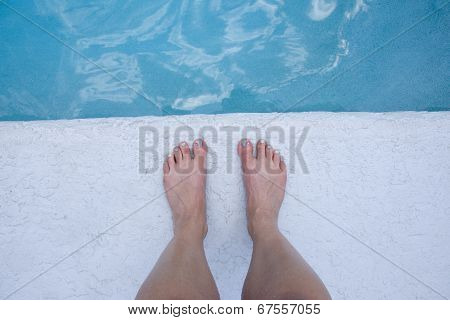 Feet At The Edge Of The Pool