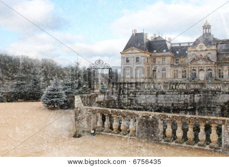 Castle Vaux Le Vicomte In Winter