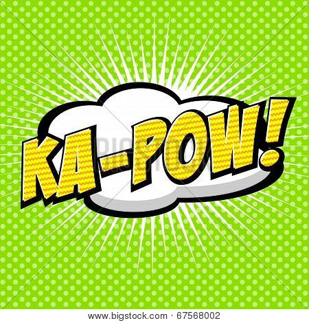 Ka-pow! Comic Speech Bubble, Cartoon.