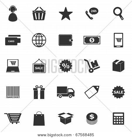 E-commerce Icons On White Background