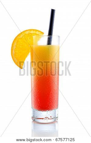 Campari orange yellow  gradient cocktail