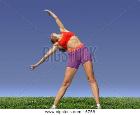 Girl Exercising Outdoors 3