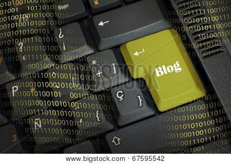 Word Blog In Black Keyboard
