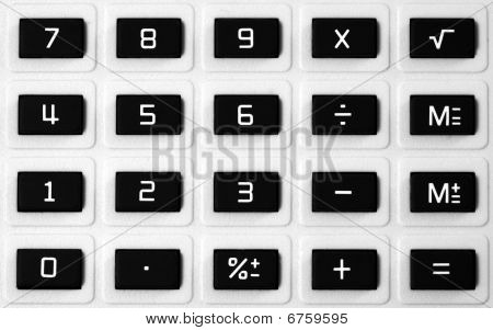 Calculator Keypad Closeup