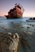 The wreck at the most souther point of Africa at Cape Agulhas poster