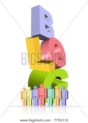 3D illustration of blog icon