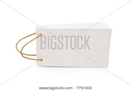 White Gift Package On A White Background