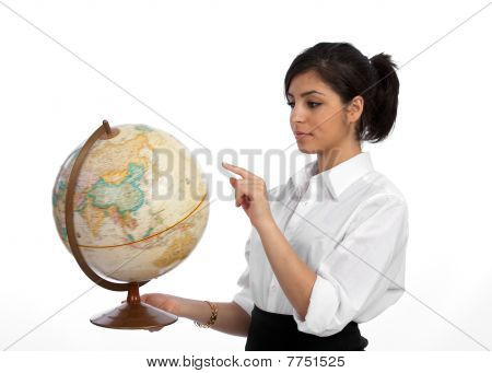 Young Professional Planning Travel