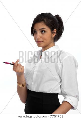Young Businesswoman Involved In Discussion