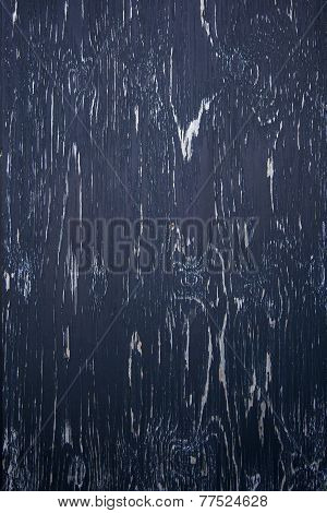 Background Consisting Of Wood With Blue Black Peeling Paint