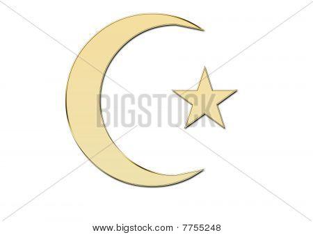 Golden islamic symbol