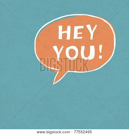 Hey You! Exclamation Words . Raster version