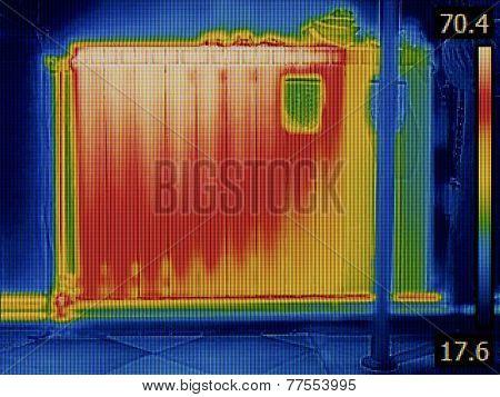 Air Gap in Radiator Heater Thermal Image
