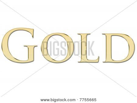 Gold written in golden letters