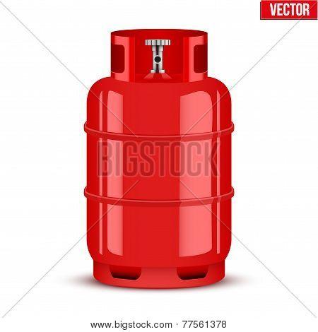 Propane Gas cylinder. Vector Illustration