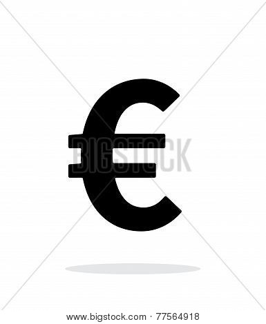 Euro icon on white background.