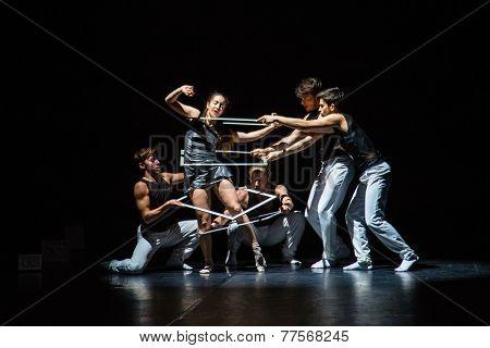 MOSCOW - NOVEMBER, 29: Tue. Rehearsal. Festival of  Contemporary choreography